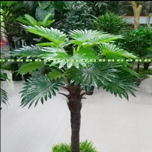 Large 1.3m Latex  Artificial Fan Coconut Palm Plant Tree Wedding Home Patio Sago Garden Decor Outdoor Green No Vase