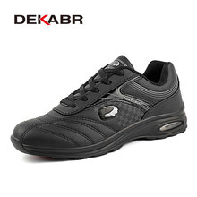 DEKARB New Men Running Shoes Run Athletic Trainers Man White Black Zapatillas Sports Shoe Max Cushion Outdoor Walking Sneakers