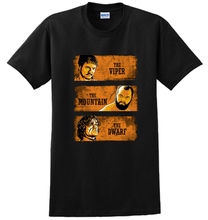 The Red VIPER THE MOUNTAIN THE DWARF Prince Oberyn Martell Ser Gregor Clegane man cotton short-sleeve T-shirt