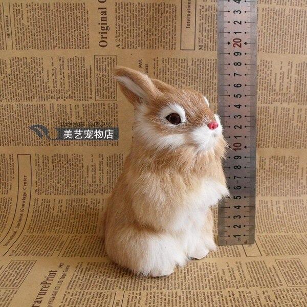 simulation yellow rabbit 17x10cm model,polyethylene&amp;furry fur rabbit handicraft toy home decoration Xmas gift b3749<br><br>Aliexpress