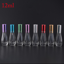 MUB - Fashion 12ml Perfume Oil Bottles With Metal Cap Mini Portable Travel Botella De Perfume Recargable Con Spray(China)