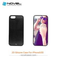 Flexible TPU 2D Mobile Phone Shell for iPhone5S(China)