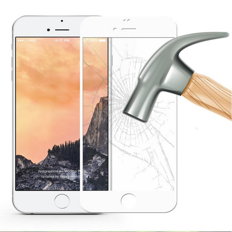 Full Coverage Cover Tempered Glass For iPhone 7 plus Super explosion