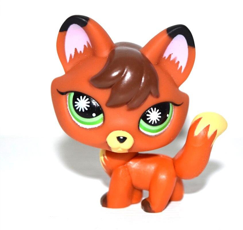 Pet Shop животные зеленые глаза коричневая фигурка лисы Кукла Детская игрушка|pet