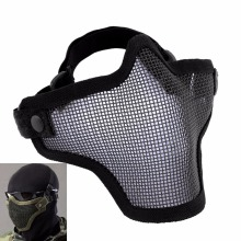 Airsoft Mask Tactical Helmet Half Lower Face Mesh Metal Steel Net CS GO Hunting Protective Watch Dogs Mask