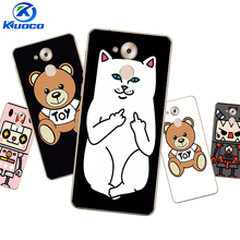 Personalized DIY For Huawei Enjoy 6 / 6S Phone Case For Huawei Honor Nova 5C Cover For Huawei Mate7 Soft TPU White Cat Printing