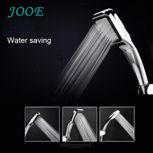 jooe 300 Hole Pressurized Water Saving Shower Head ABS Chrome Square Bathroom Hand Shower Sprayer Douche