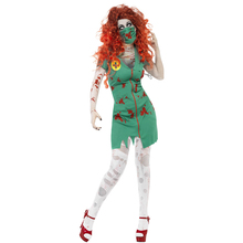 New Arrivals Adult Women Zombie Scrub Nurse uniforms Cosplay Fancy Dress Halloween Party Scary Costume(China)
