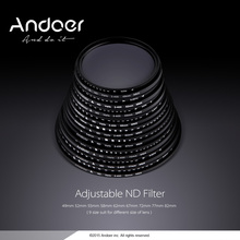 Andoer 62mm ND Fader Neutral Density Adjustable ND2 to ND400 Variable Filter for Canon Nikon DSLR Camera