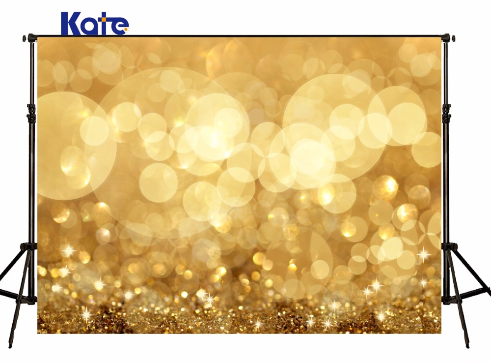 10X10FT Kate Backdrop photography sparking Gold Light Spot Masquerade Backdrops Seamless Naked Baby Background<br>