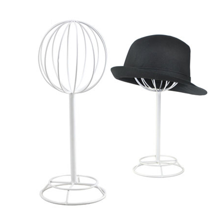Free shipping Metal Hat display hat holder stand black hat display rack iron hat holder cap display HH013-White<br>