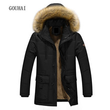 Long Hooded Parkas Men Thick Warm Mens Winter Jacket Male Plus Size M-5XL 2017 Brand Clothing Man Coat Fur Collar Overcoats