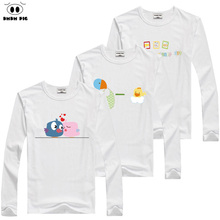 DMDM PIG Christmas Girls Tshirt Cotton Kids Girl T Shirt Teenage Toddler Boys Long Sleeve Tops Winter 2017 For 3 4 5 6 7 8 Years(China)