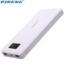Original PINENG PNW-969 20000mAh Dual USB Charging External Battery Charger with Built-in Li-Polymer Mobile Powerbank for Phone(China)