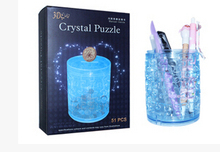 Happyxuan  Brush Pot Piggy Bank Plastic  DIY 3D Jigsaw Crystal Puzzle  Educational Toys  Home Decoration   Children