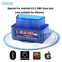 ELM327 V2.1 OBD 2 Code Reader Diagnostic Scanner For Cars Scan Tool Bluetooth ELM 327 OBD2 Scanner Support 7 OBDII Protocols(China)