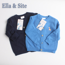 2017 Baby clothing outerwear cotton Jackets for baby boys children clothes kids boys knitted cardigan sweater for 0-24M