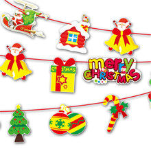 1set Multi-Style Christmas Bunting Store Market Merry Christmas Decorations Birthday Party Home Colorful Christmas banners6ZDZ61(China)