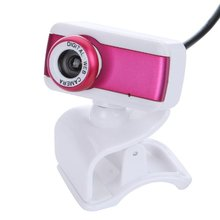 CAA-USB 2.0 HD Webcam Camera 1080P With Microphone for Computer Desktop PC Laptop Rose
