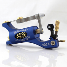 2014 hot sale Rotary Tattoo Machine Shader & Liner blue Color Tatoo Motor Gun Kits Supply For Artists Free shipping(China)