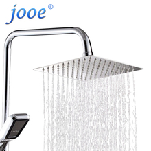 jooe 6/8/10/12 rainfall shower head high pressure Square Water saving Top spray waterfall ceiling Bathroom accessories Wholesale(China)