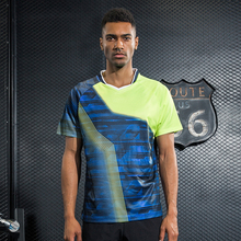 New sports Tennis shirt colorful Men's , table tennis shirt , Badminton shirt, sports Quick Dry male Tennis Shirts 1pcs  M1015