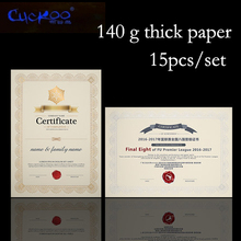 Certificate of gold stamping blank high-grade job offer inside paper 15 sheets/bag A4 certificate paper printable copy paper(China)