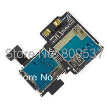 For Galaxy S4 GT-I9505 Sim Card Reader Holder with Memory Socket Flex Cable Genuine New