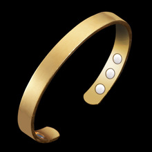 Simple Women Healing Energy Magnetic Copper Bangle Promote Blood Circulation Balance Cuff Bracelet Bangle Jewelry Drop Shipping(China)