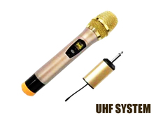 Free shipping UHF band mini receiver vocal karaoke handheld portable wireless microphone system good for out door use(China)
