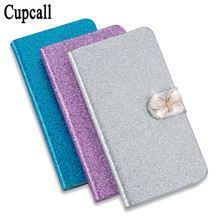 Cupcall High Quality Luxury Shining Leather Flip Phone Case Cover For HTC 8X C620E With ID Card Holder(China)