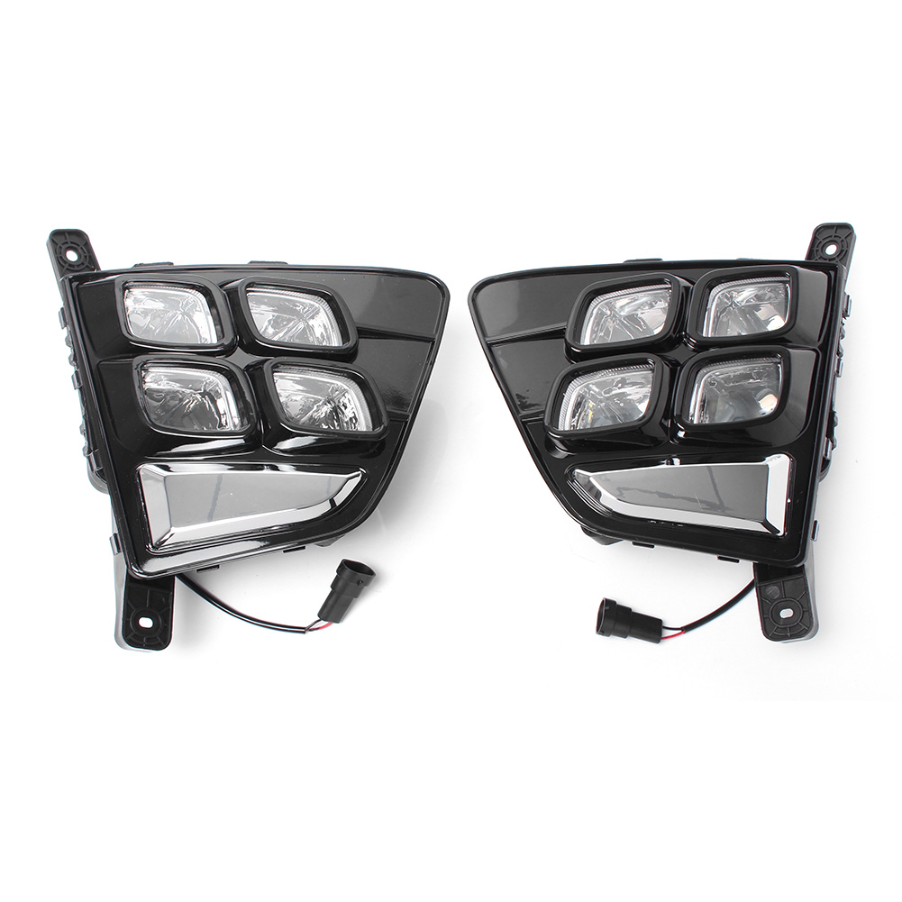 LED Fog Light Daytime Running Driving Lamp Day Work Light For Hyundai Creta IX25 2014 2015 2016 Pair Car Indicators Accessories