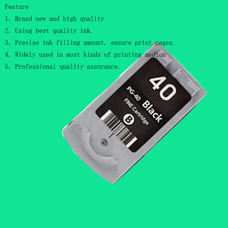 Hisaint PG 40 Compatible Ink Cartridge For Canon 40 For Canon Pixma MP145MP150MP160 MP170 MP180 MP198 MP218 MP228 MP450Printer<br><br>Aliexpress