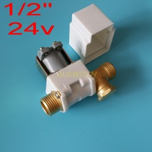 N/C 24vdc Water Air Solar System Water Heater 24V  DC Electric Solenoid Valve 1/2""