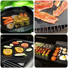40*33cm BBQ Grill Mat 1 Sheet Non-Stick Reusable Make Grilling Easy BBQ