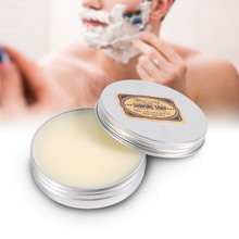 1 Pcs Mustache Shaving Cream Soap Deluxe Men's Round Facial Care Goat Milk Beard Shaving Soap Barbering Shave Tool Product(China)