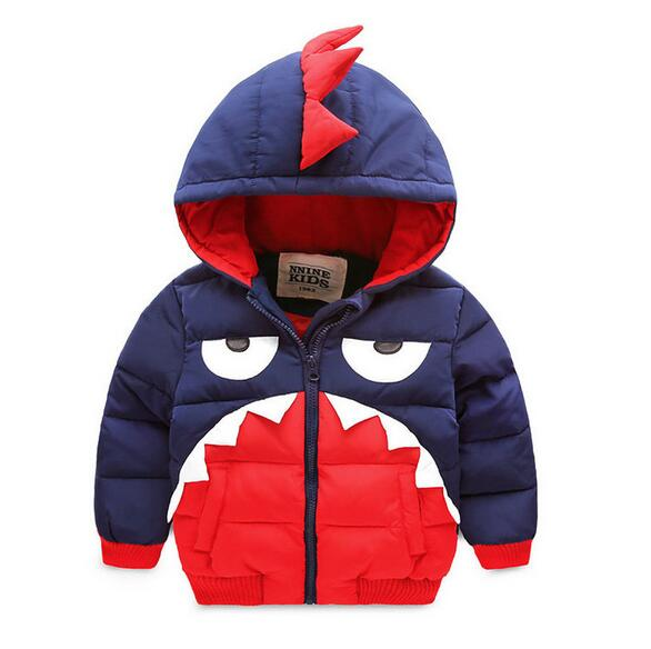 The new 2017 winter warm down jacket children boys and girls childrens clothing Little monster thin hooded down jacket Одежда и ак�е��уары<br><br><br>Aliexpress