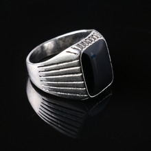 Forever The Black Friday To provide The Lowest Price Men Biker Silver Plated Jewelry Fashion Wedding Rings For Men Free Shipping