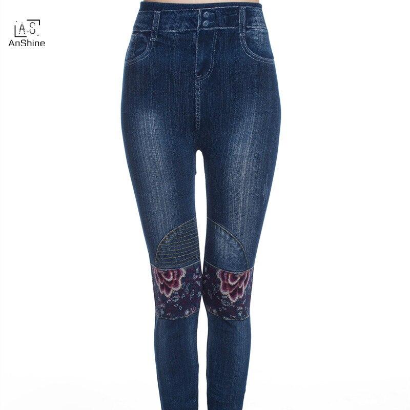 AnShine 2017 Women Jeans Leggings Denim Pants with Pocket Slim Jeggings Fitness Plus Size LeggingsОдежда и ак�е��уары<br><br><br>Aliexpress