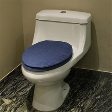 High Quality 2pcs/Set Bathroom Toilet Seat Cushion Cover Pad Warm Sitting Mats Set Toilet Seat Cover Lid Pad Bathroom Kit(China)