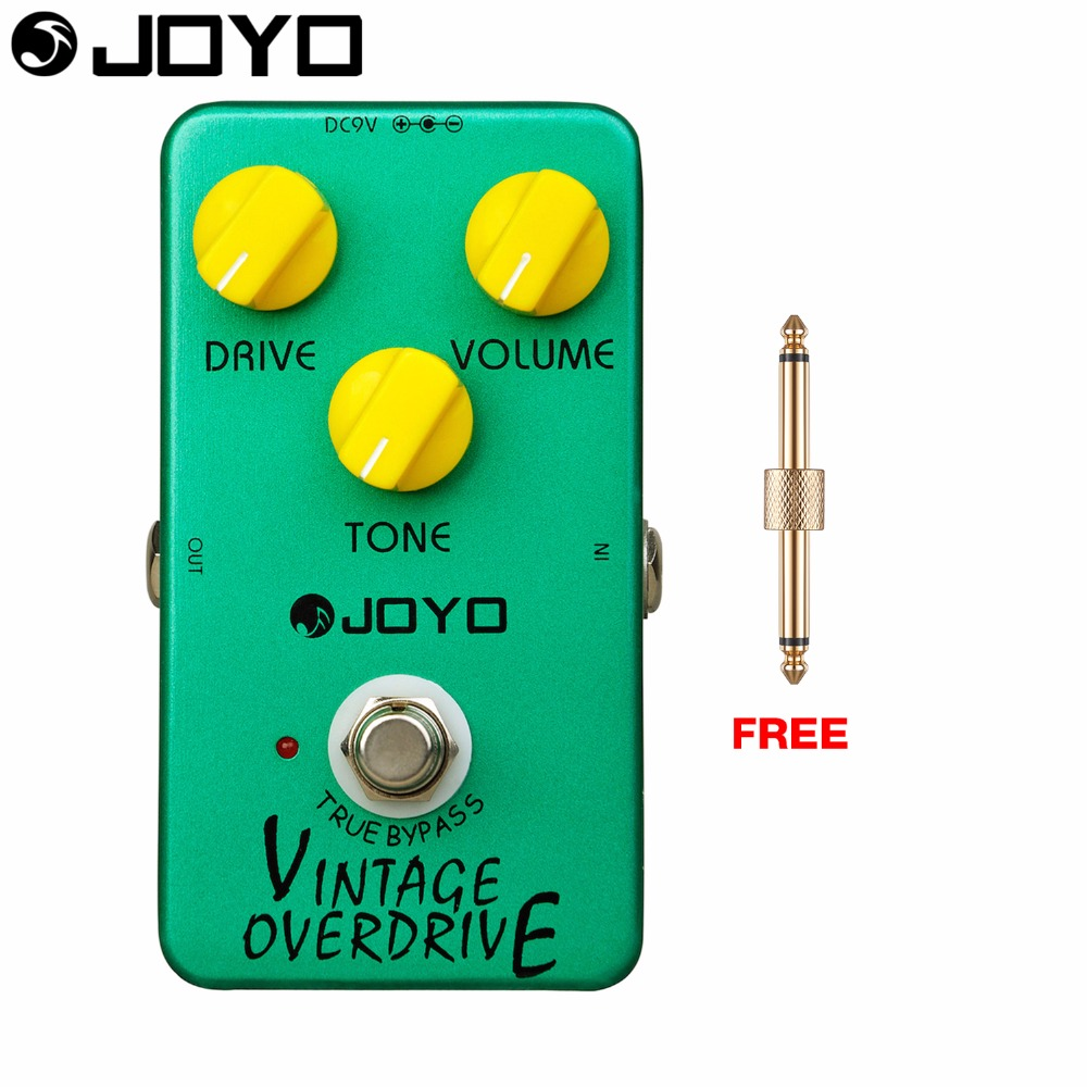 Joyo Vintage Overdrive Electric Guitar Effect Pedal True Bypass Classic Tubescreamer JF-01 with Free Connector<br>