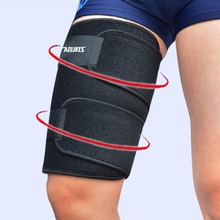 *Adjustable Unisex Soccer Thigh Muscle Strain Protection Wrap Brace Gym Sport Injury Pain Sports Basketball Tennis 1 Pcs