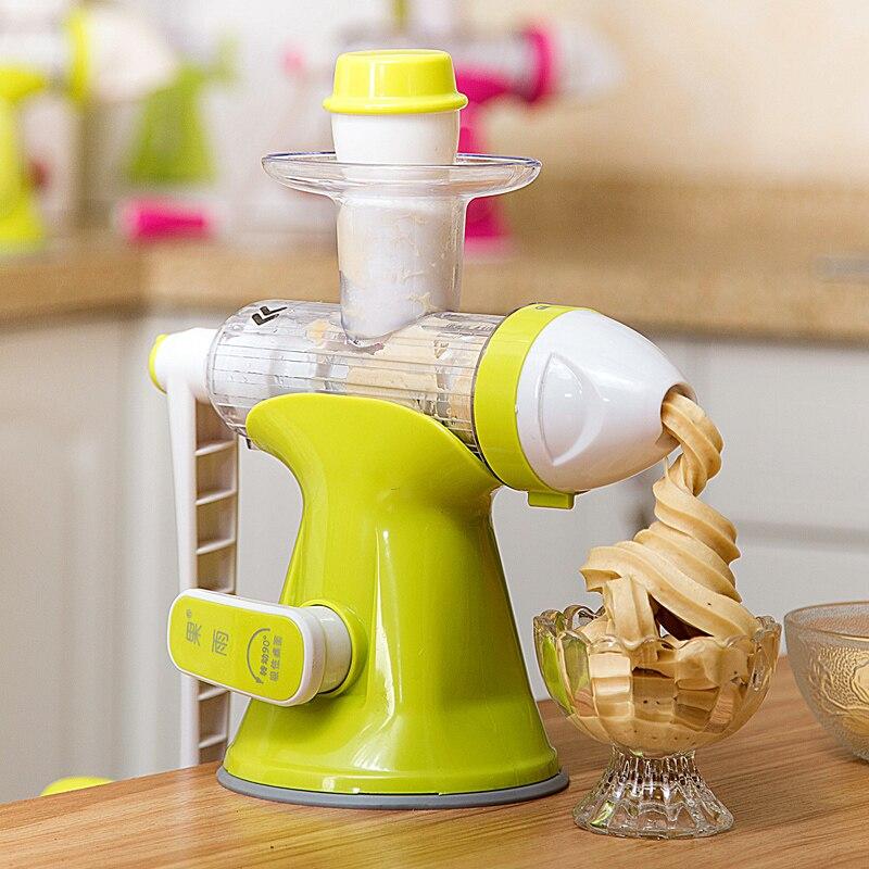 Food Grade Multifunctional Manual Juicer DIY Ice Cream Maker Machine Portable Mini Portable Ice Cream Maker Machine<br>