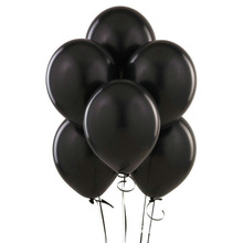 XXPWJ Free shipping 12-inch 10pcs/lots round black latex balloons birthday party balloon wedding decoration Toys