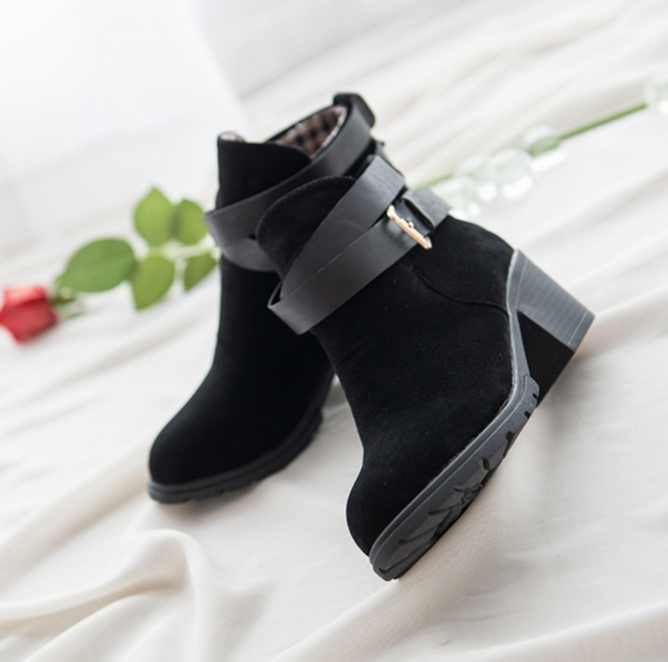 COOTELILI Brand Autumn&amp;Winter Women Leather Ankle Boots Heels High Heel Shoes Woman Red Bottom High Heels Girls Shoes<br><br>Aliexpress