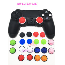 200PCS=100PAIR For XBOX360 PS 3 Turtle Edtion Silicone Joystick Thumbstick Cover Caps Grips For PS4 Controller(China)