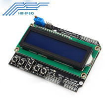 5PCS 1602 LCD Board Keypad Shield Blue Backlight For Arduino Duemilanove Robot  Wholesale
