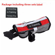 Reflective Breathable service dog harness vest removable tape pet harness mesh vest three designs labels harness for dogs(China)