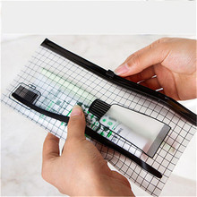 Small PVC Clear Bag for Women Portable Paper Folder Book Pencil Pen travel waterproof Clear Case storage Bag Pouch HE85