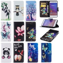 Leather Phone Cover for Huawei Y5 II Y5II Cases Cute Print Mobile Shell Bag for Huawei Y5 ll Y5 2 Cases Cover Panda Flower Etui